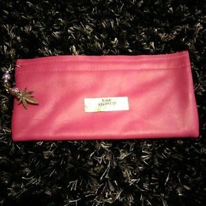NWOT Your Highness Hot Pink Leather Clutch